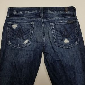 7 for all Mankind Jeans Tag Size 28 'A' Pockets